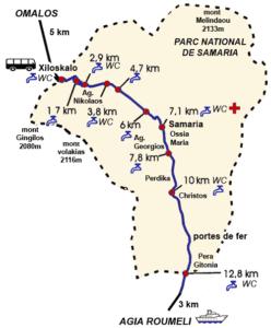 omalos samaria gorge trail info